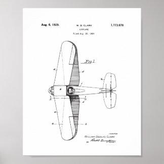 Vintage Aeroplane Patent Wall Art, Plane Poster
