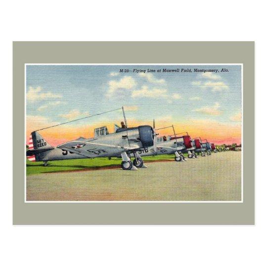 Vintage aeroplanes Maxwell Field Montgomery AL Postcard