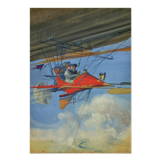 Vintage Aerostatic Cabriolet of Tomorrow Poster