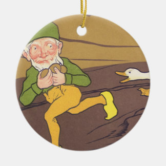 Vintage Aesop Fable Goose that Laid the Golden Egg Christmas Ornament
