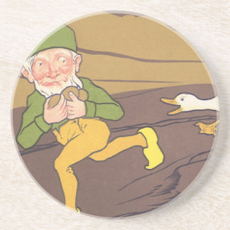 Vintage Aesop Fable Goose that Laid the Golden Egg Coaster