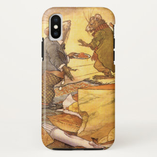 Vintage Aesop's Fable, Country Mouse, City Mouse iPhone X Case