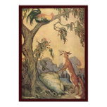 Vintage Aesop's Fables, Children's Stories 13 Cm X 18 Cm Invitation Card