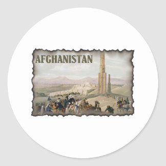 Vintage Afghanistan Classic Round Sticker