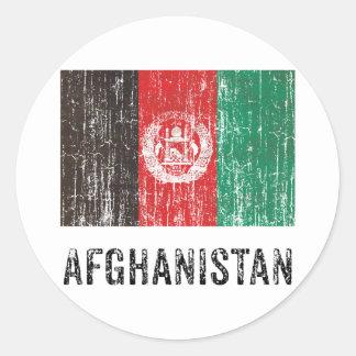Vintage Afghanistan Round Sticker