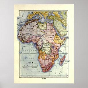 Vintage Africa Map (1921) Poster