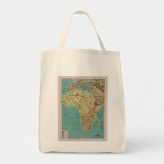 Vintage Africa Tote Bags