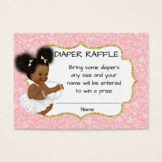 Vintage African American Baby Shower Diaper Raffle Business Card