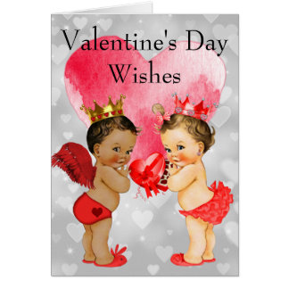 Vintage African American Baby Valentine's Day Card