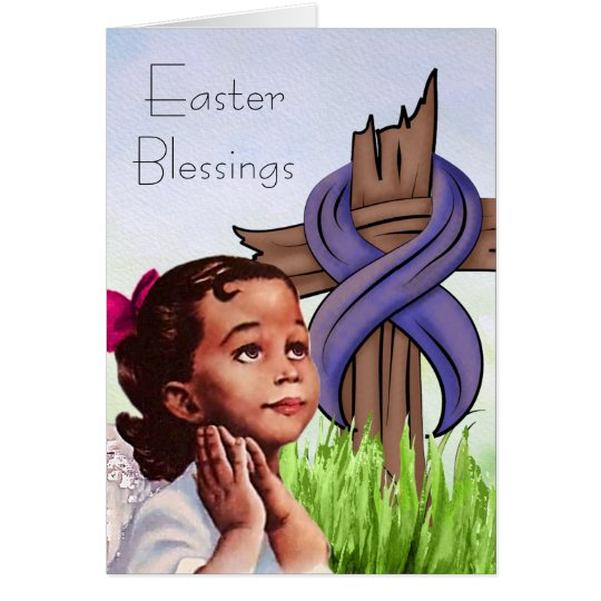 Vintage African American Child Easter Card
