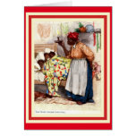 Vintage African American Christmas Caed Greeting Card