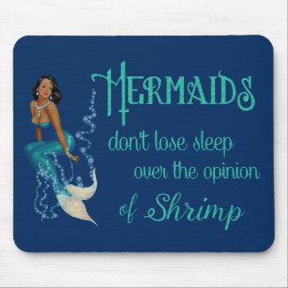 Vintage African American Pinup Mermaid in Diamonds Mouse Pad