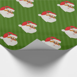 Vintage African American Santa Pop Art Wrapping Paper