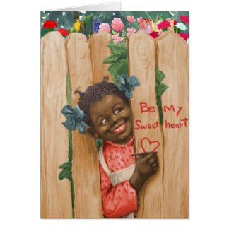 Vintage African American Valentine's Day Card