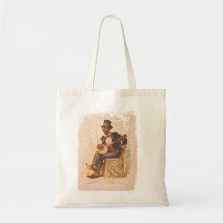 Vintage African American Vector design Canvas Bags