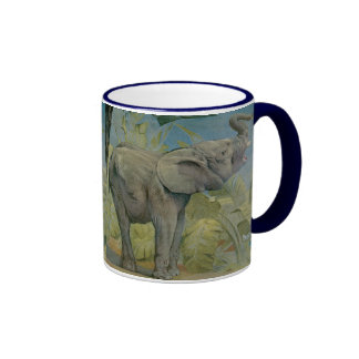 Vintage African Elephant in the Jungle, EJ Detmold Mugs
