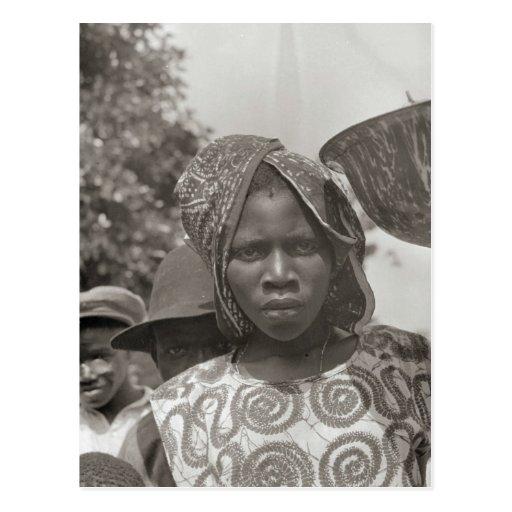 Vintage African girl Postcard