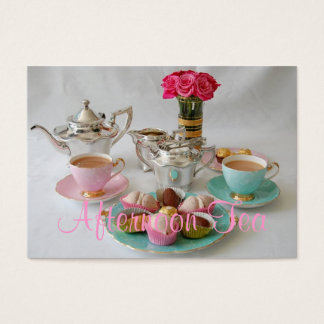 Vintage Afternoon Tea Customisable Business Card