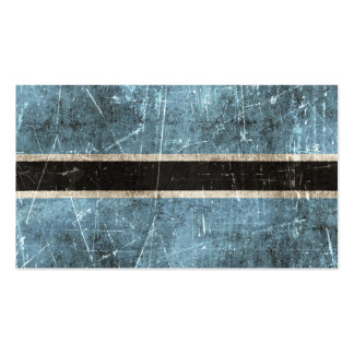 Vintage Aged and Scratched Flag of Botswana Pack Of Standard Business Cards