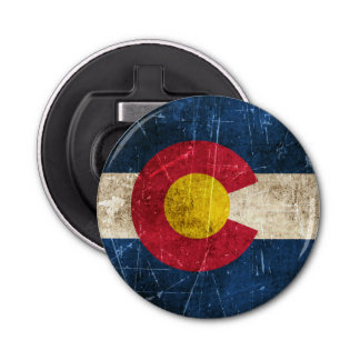 Vintage Aged and Scratched Flag of Colorado Bottle Opener