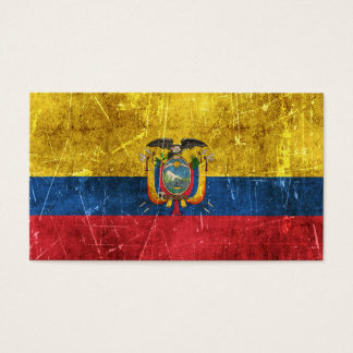 Vintage Aged and Scratched Flag of Ecuador