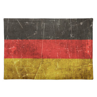 Vintage Aged and Scratched Flag of Germany Placemat