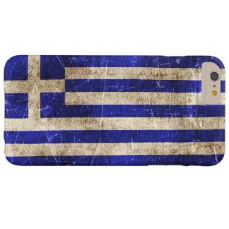 Vintage Aged and Scratched Flag of Greece Barely There iPhone 6 Plus Case