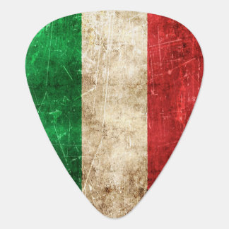 Vintage Aged and Scratched Flag of Italy Plectrum