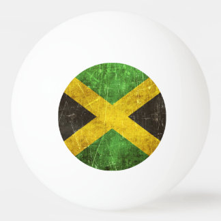 Vintage Aged and Scratched Flag of Jamaica Ping Pong Ball