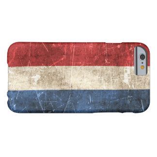 Vintage Aged and Scratched Flag of Netherlands Barely There iPhone 6 Case