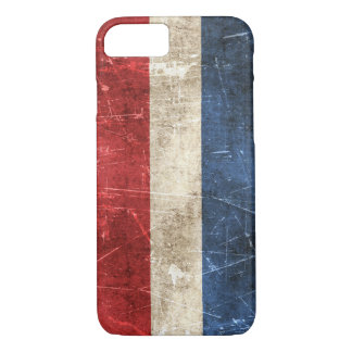Vintage Aged and Scratched Flag of Netherlands iPhone 7 Case