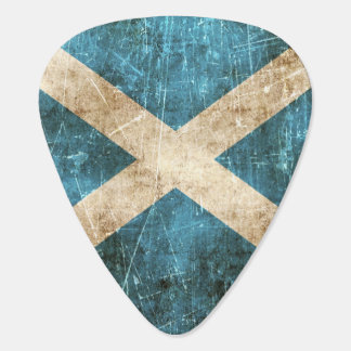 Vintage Aged and Scratched Flag of Scotland Plectrum