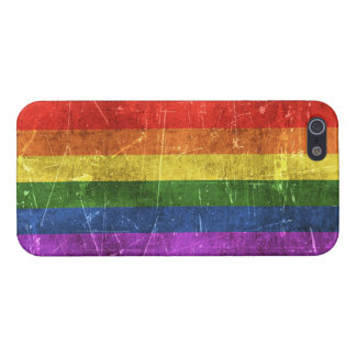 Vintage Aged and Scratched Rainbow Flag iPhone 5/5S Cases