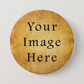 Vintage Aged Harvest Gold Parchment Paper Blank 7.5 Cm Round Badge