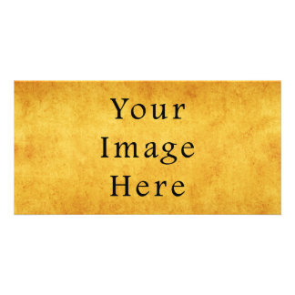 Vintage Aged Harvest Gold Parchment Paper Blank Personalized Photo Card