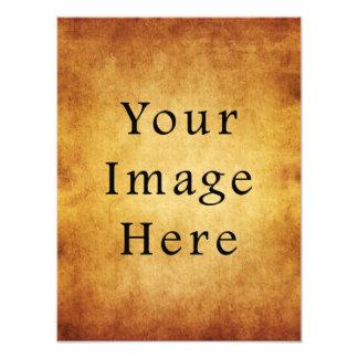 Vintage Aged Harvest Gold Parchment Paper Blank Photograph