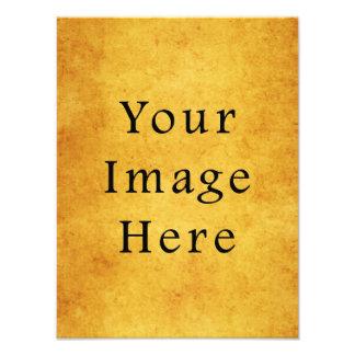 Vintage Aged Harvest Gold Parchment Paper Blank Art Photo