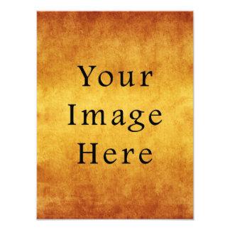 Vintage Aged Harvest Gold Parchment Paper Blank Photo Print