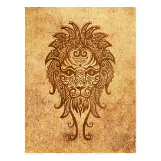 Vintage Aged Leo Zodiac Postcard