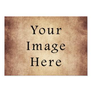 Vintage Aged Light Dark Brown Parchment Paper 13 Cm X 18 Cm Invitation Card