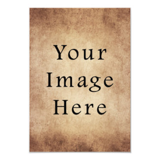 Vintage Aged Light Dark Brown Parchment Paper 9 Cm X 13 Cm Invitation Card