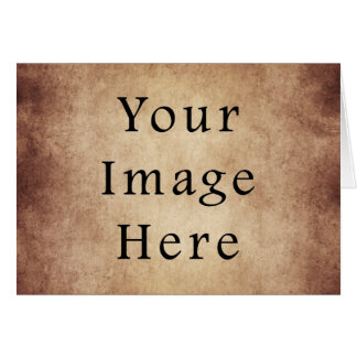Vintage Aged Light Dark Brown Parchment Paper Greeting Card