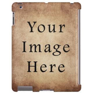 Vintage Aged Light Dark Brown Parchment Paper iPad Case