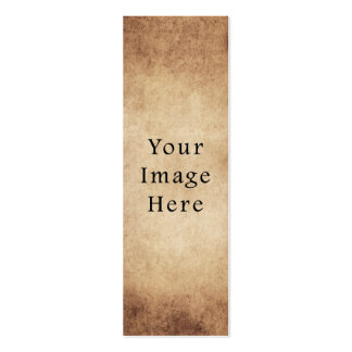 Vintage Aged Light Dark Brown Parchment Paper Pack Of Skinny Business Cards
