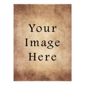 Vintage Aged Light Dark Brown Parchment Paper Photographic Print