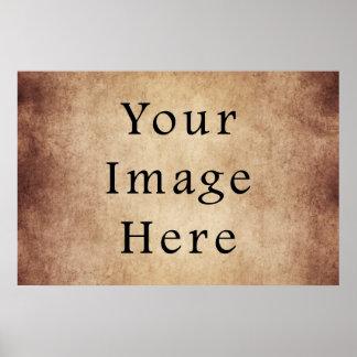 Vintage Aged Light Dark Brown Parchment Paper Poster