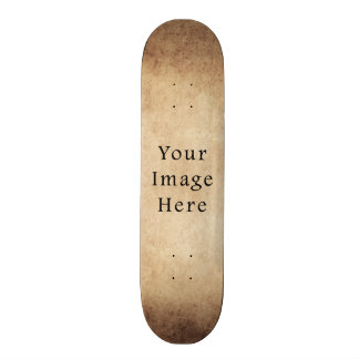 Vintage Aged Light Dark Brown Parchment Paper Skate Board Deck