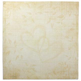 Vintage Aged Paper Wedding Cloth Napkin