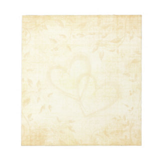 Vintage Aged Paper Wedding Notepad