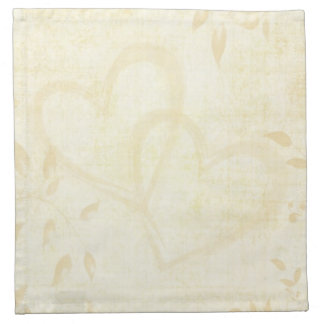Vintage Aged Paper Wedding Printed Napkin